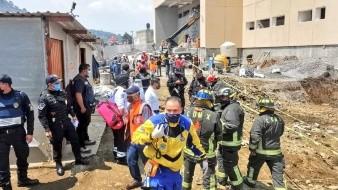 Derrumbe en construcción de Hospital en Topilejo, CDMX deja ocho lesionados
