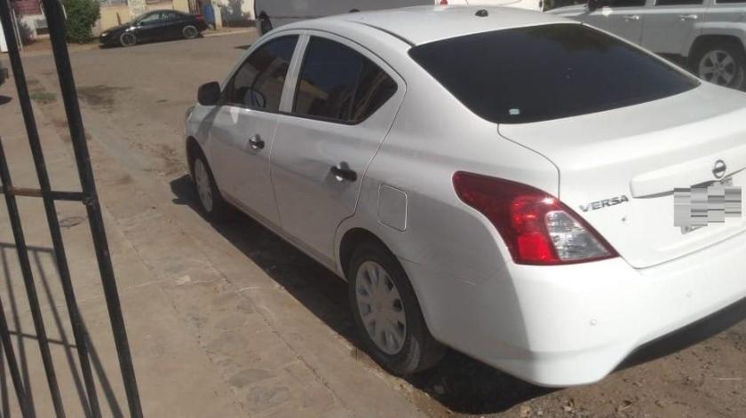 Recuperan vehículo robado de agencia de carros en Hermosillo(Cortesía)