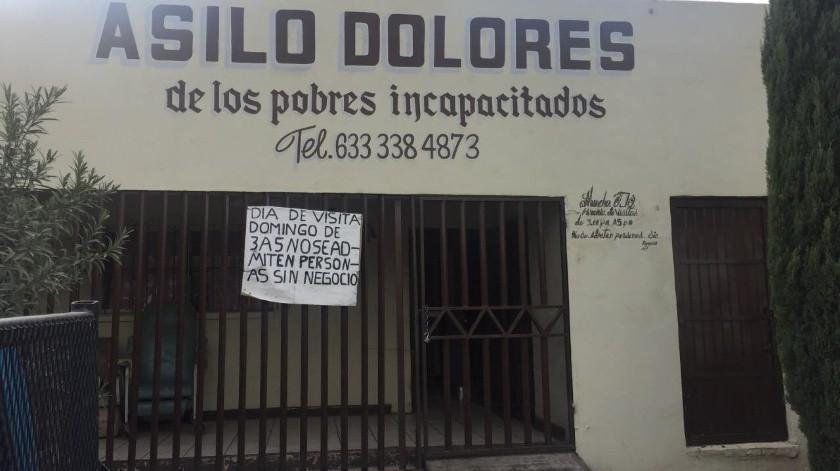 Es posible cierre de Asilo Dolores en Agua Prieta(Diyeth Rocha)