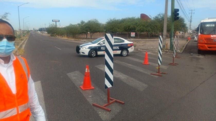Tramo del bulevar Paseo Río Sonora cerrado por reparación de drenaje