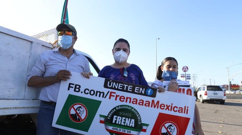 Llevan a cabo quinta caravana contra AMLO(Javier Gallegos)