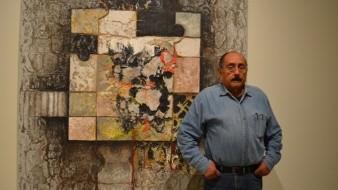 El pintor Álvaro Blancarte, integrante del Comité Curatorial de la Trienal Tijuana.
