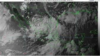Se pronostican lluvias intensas para Durango, Jalisco, Nuevo León, San Luis Potosí, Sinaloa, Tamaulipas y Zacatecas.