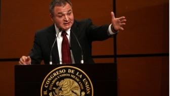 En su conferencia de prensa, en Palacio Nacional, el presidente López Obrador expresóque en México hay denuncias contra García Luna.