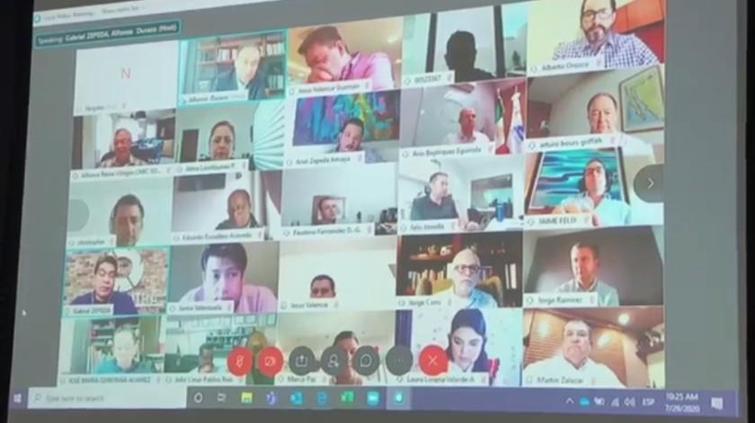 Empresarios sonorenses sostienen reunión de Seguridad con Alfonso Durazo(Captura de pantalla)