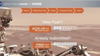 NASA puede enviar tu nombre a Marte