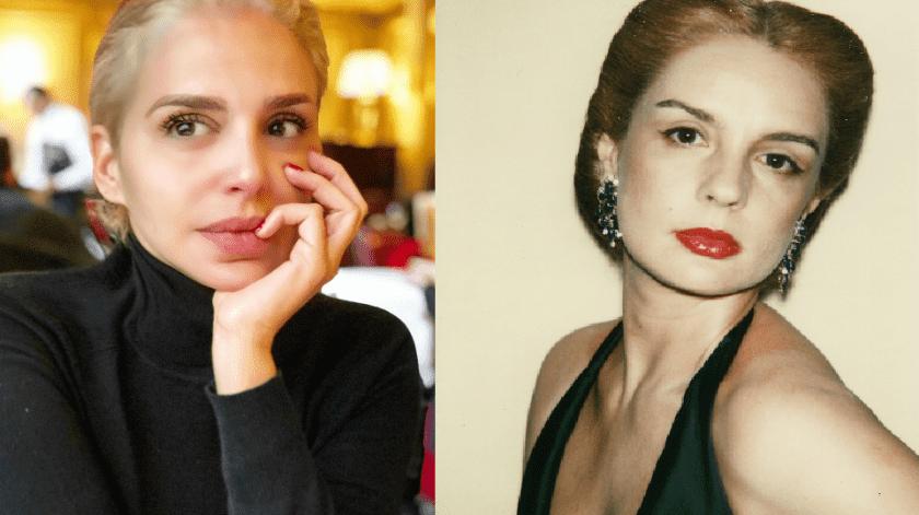 A la izquierda la actriz cubana Malillany Marn a la derecha la diseadora Carolina Herrera fotografiada por Andy Warhol en 1978Tomada de la red