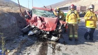 La víctima viajaba en una camioneta Chevrolet Silverado.