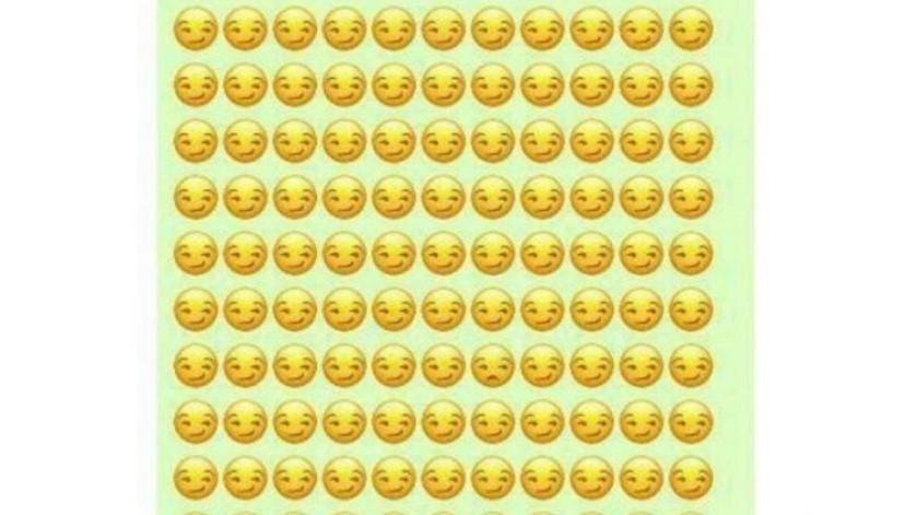 ¿Puedes encontrar el emoji distinto?