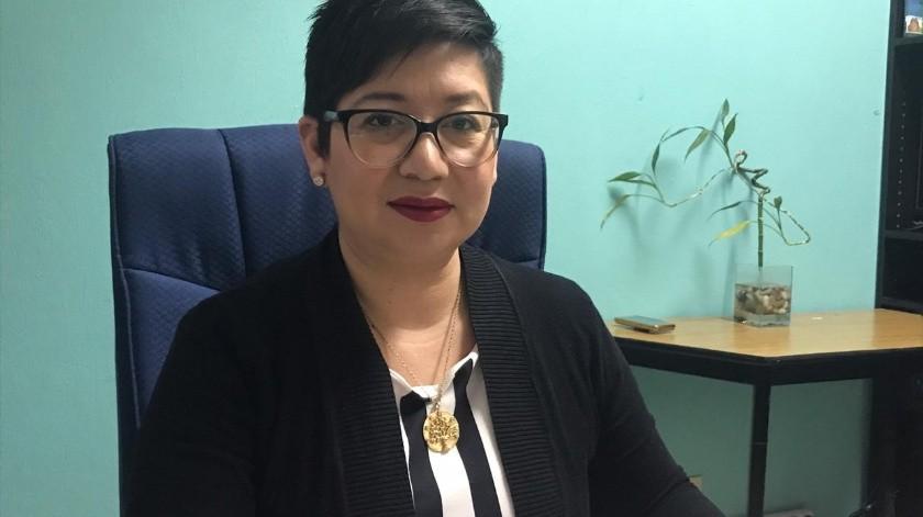 La Delegada de la Secretaría de Educación en Rosarito, Brenda Ayala Arenas.(Carmen Gutiérrez)