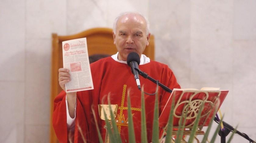El padre Hugo Montaño Terán fue fundador del boletín 'En busca de la paz'.(Javier Sandoval)