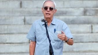 El historiador cubano Eusebio Leal durante el acto de presentación de la cúpula dorada del Capitolio en La Habana, Cuba.