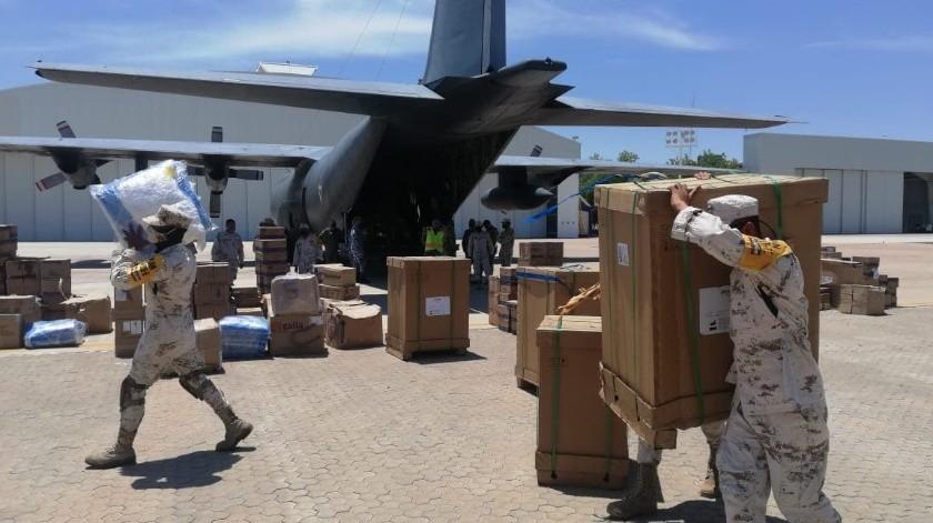 Llega material e insumos médicos para enfrentar pandemia por Covid-19 en Hospital Militar(Cortesía)