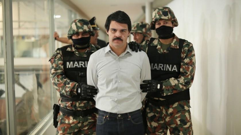 """Marco de la O, durante un capitulo de la serie """"El Chapo"""".(EFE)"""