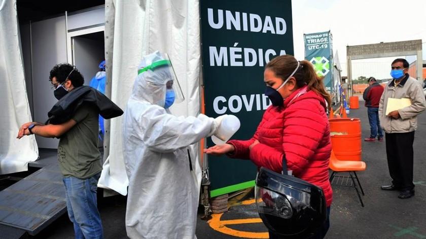 Covid-19 en México: 784 decesos y 9 mil 556 nuevos contagios confirmados este día(EFE)