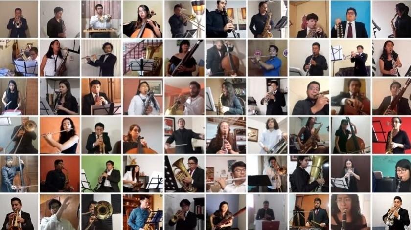 Concierto Banda Sinfónicade la Facultad de Música de la UNAM(captura vídeo YouTube)