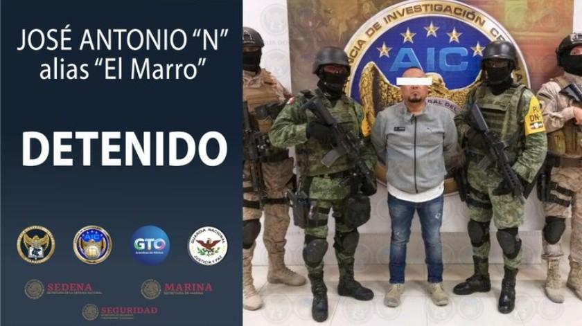"""Una mujer secuestrada, lanzagranadas y armas de grueso calibre, lo que hallaron en la guarida de """"El Marro""""(Twitter Fiscalía General del Estado de Guanajuato)"""