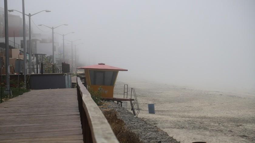 Neblina inhibe a turistas de Playas de Tijuana(Sergio Ortiz)