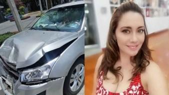 Sugey Ábrego sufre aparatoso accidente