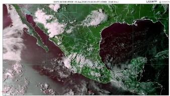Las lluvias podrían presentarse con descargas eléctricas, rachas de viento y posibles granizadas.
