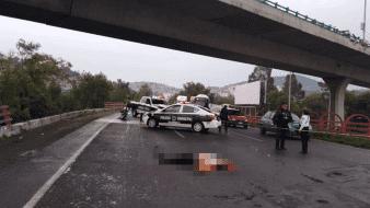 CDMX: Hombre muere al caer de segundo piso del Periférico Norte