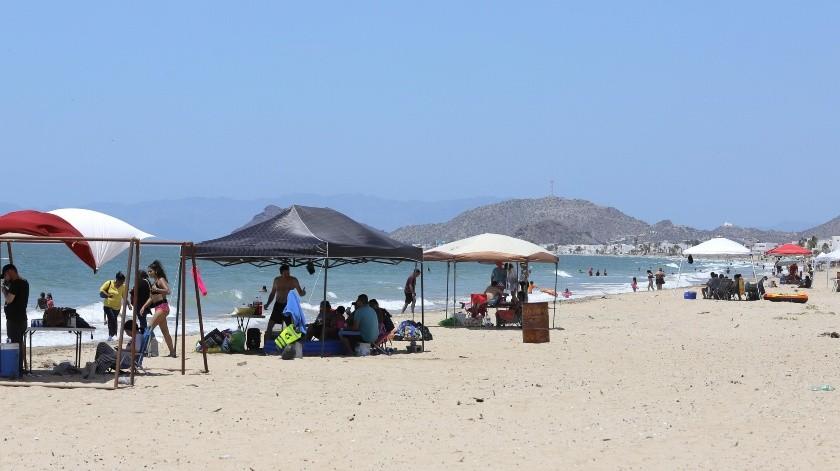 Las autoridades contabilizaron casi 3 mil vehículos que ingresaron a Bahía de Kino, el pasado fin de semana.(Julián Ortega)