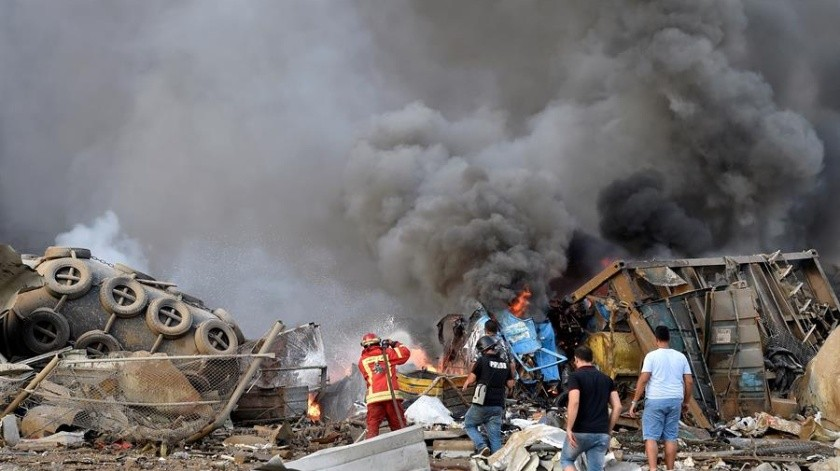 Líbano declara un día de luto tras la gran explosión en el puerto de Beirut(EFE)