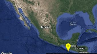 Un fuerte sismo de 5.7 grados se sintió esta mañana en el Sur de Ciudad Hidalgo, Chiapas.