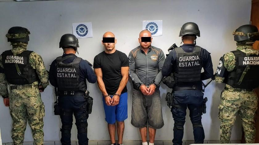 """Los detenidos son José Luis """"N"""" y Chrystian Jovanni """"N"""".(Cortesía)"""