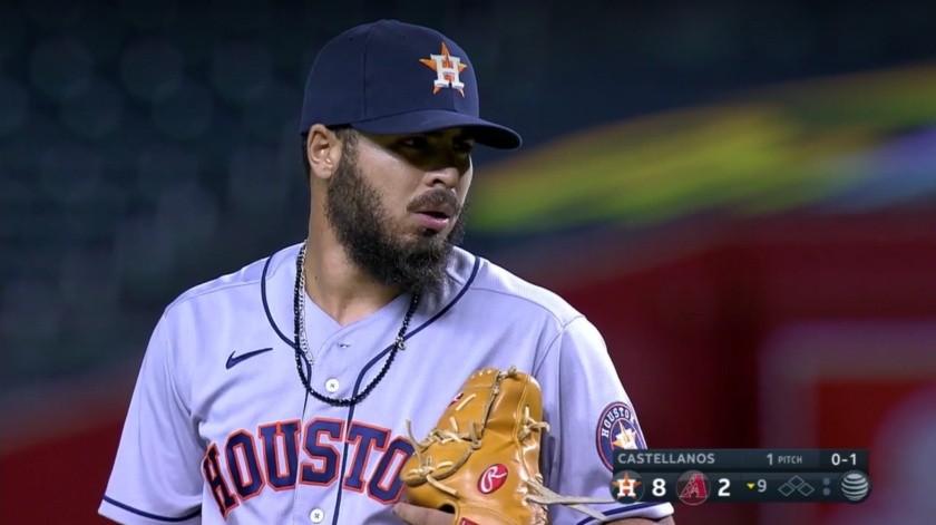 Humberto Castellanos se presentó con el uniforme de los Astros.(Internet)