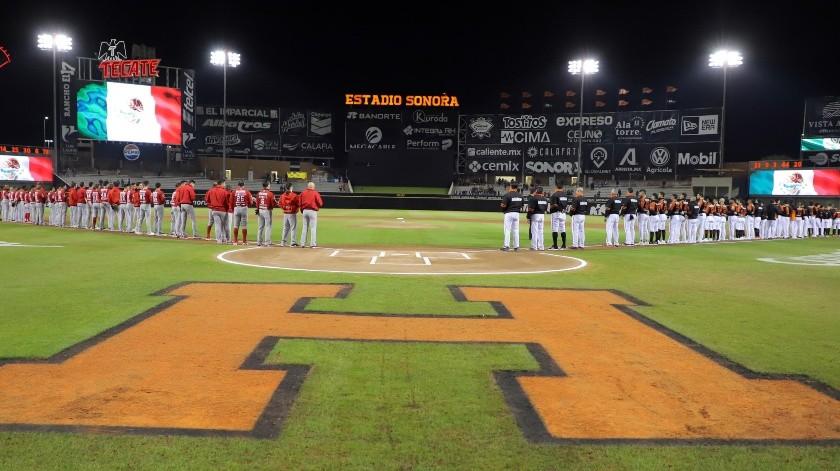 Naranjeros y Venados abrieron su serie de playoffs en el Estadio Sonora.(Priscilla Mungarro)