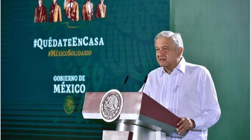 El mandatario fue cuestionado sobre que a raíz de las detenciones en Guanajuato de los miembros del Cártel de Santa Rosa de Lima, se esperaría que hubiera detenciones en Sinaloa.(Gobierno de México)