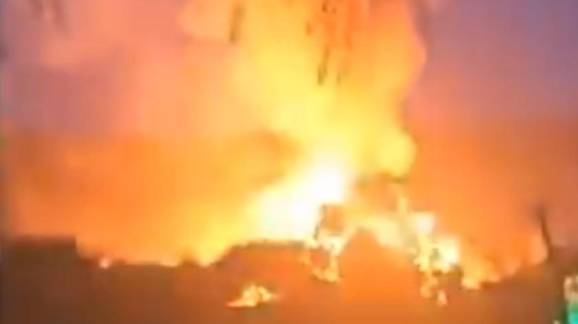 VIDEO: Explosión en frontera de Corea del Norte con China; reportan 15 muertos(Captura de pantalla)