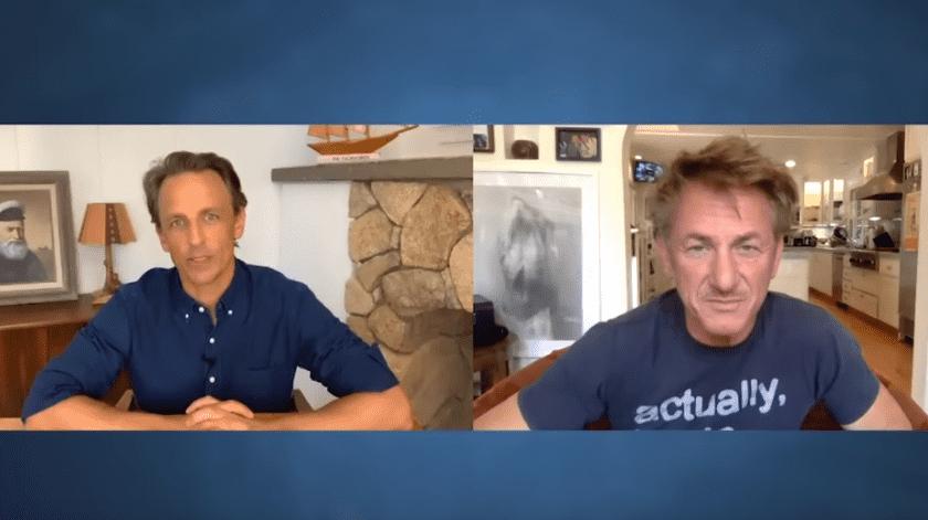 Sean Penn habla sobre los detalles de su boda en secreto.(YouTube/ Late Night with Seth Meyers.)