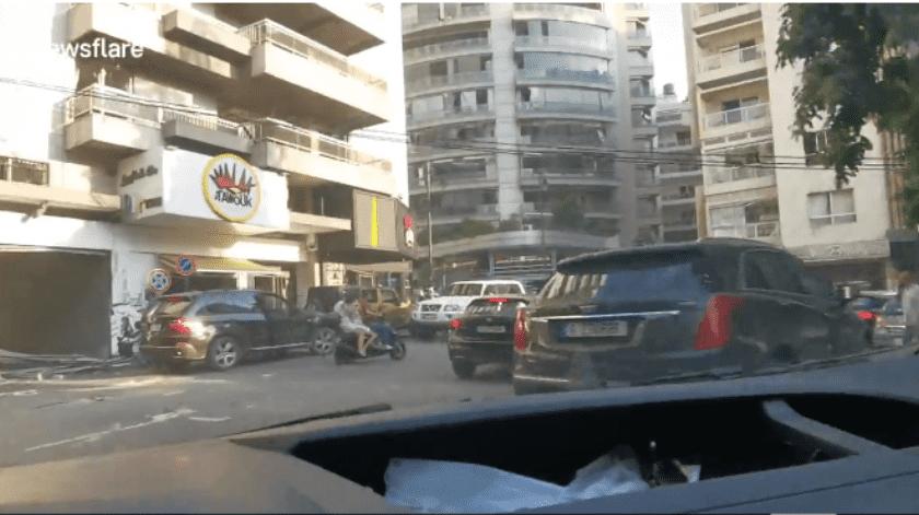VIDEO: Conductor del Líbano recorre la ciudad destruida tras una explosión masiva en el puerto de Beirut