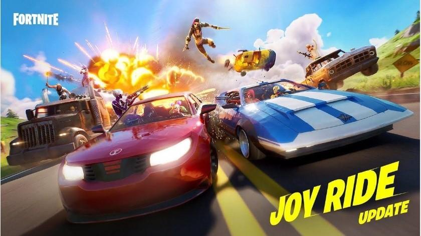 Fortnite agrega autos deportivos, camionetas y camiones en su ultima actualización de Joy Ride