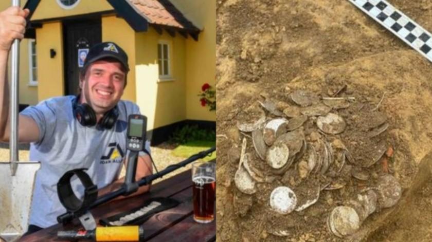 Encuentra tesoro valuado en 130 mil dólares