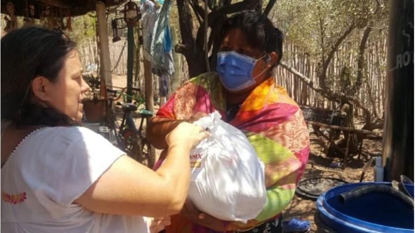 Entregarán mil 750 despensas a comunidades indígenas(Cortesía)