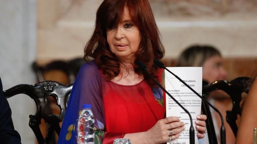 "Cristina Fernández acusa a Google por aparecer como ""ladrona de la nación""(EFE)"