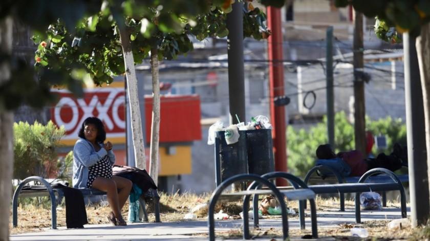 Aspecto de la colonia Camino Verde, donde prevalece la mayor cantidad de casos de Covid.19 en Tijuana.(Gustavo Suárez)