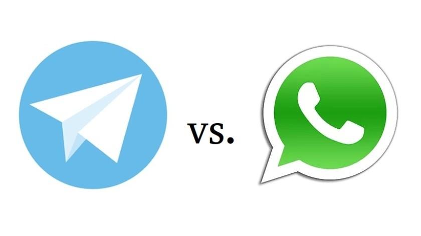 Telegram VS. WhatsApp(Tomada de la Red)