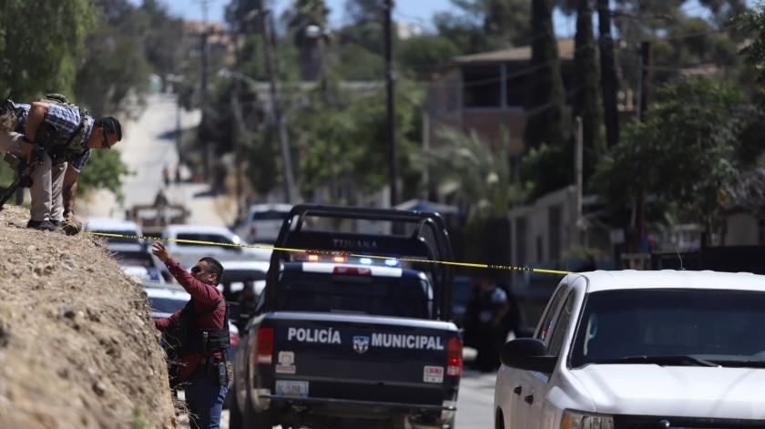 Policía municipales se enfrentaron con un grupo de hombres armados.(Gustavo Suárez)