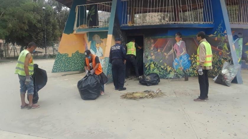 Ubican y destruyen picadero en el parque Magaña en Maneadero(Jayme García)