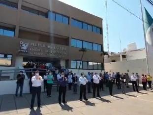 La Delegación del Seguro Social en Sonora rindió tributo póstumo   a empleados que, en su desempeño,  murieron víctimas del Covid-19.