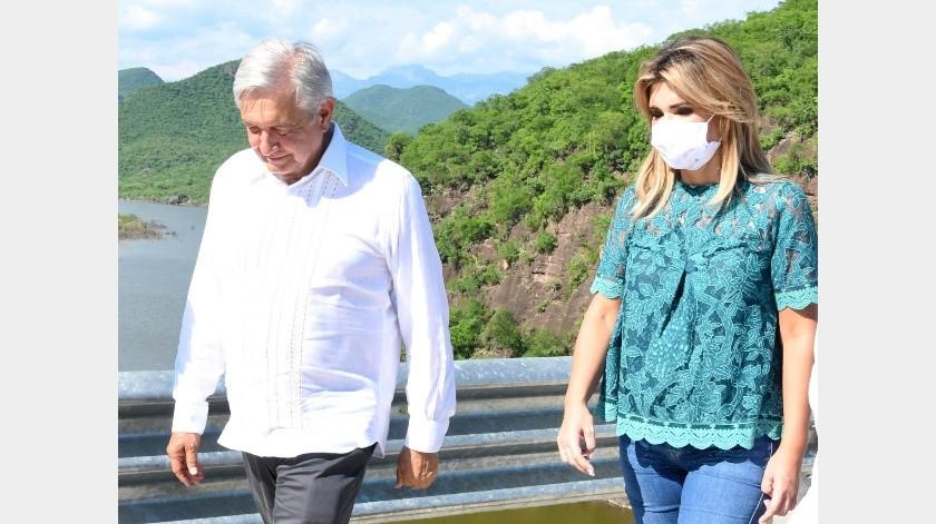 El presidente Andrés Manuel López Obrador y la gobernadora Claudia Pavlovich Arellano.