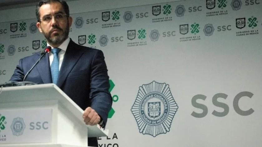 Jesús Orta niega haber recibido orden de aprehensión por parte de la FGR(Twitter @SSP_CDMX)