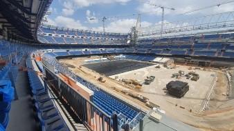 Impactan fotografías del Santiago Bernabéu a media remodelación