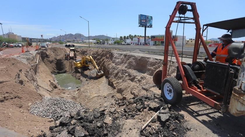 Valenzuela Salas estima que a finales de agosto o principios de septiembre culmine la obra.(Anahí Velásquez)