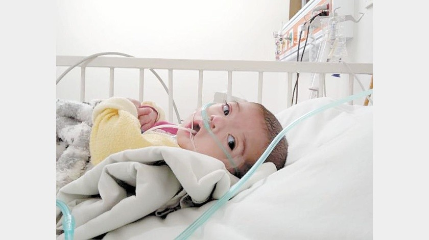Victoria requiere apoyo para que su abuela pueda comprarle pañales y leche especial para prematuros.(Cortesía)