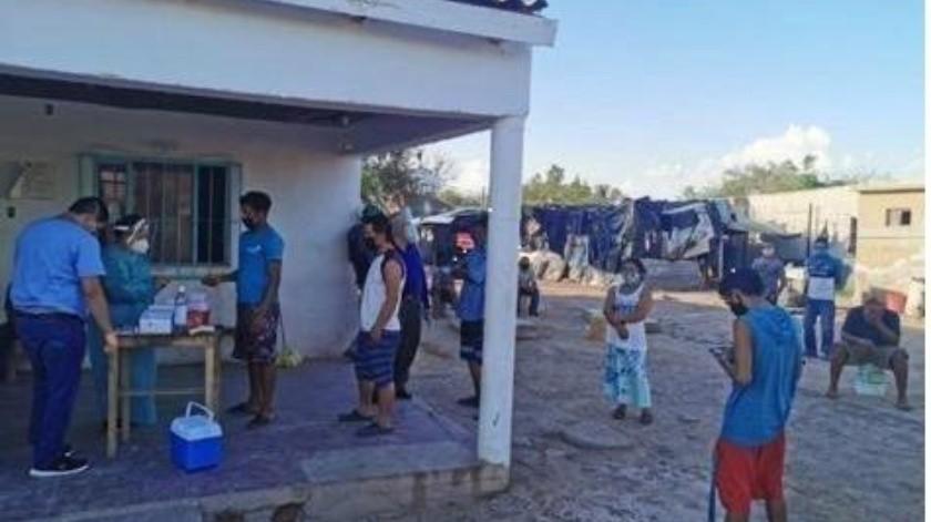 Dos migrantes fueron aislados en un albergue de Caborca tras dar positivo a Covid-19.(Especial)